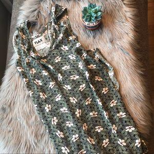 Flax Maxi Dress Floral Print